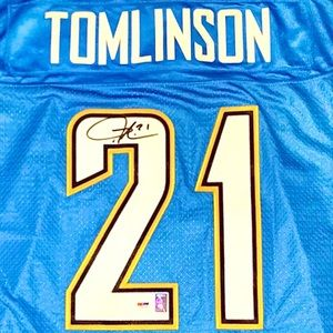 SIGNED Tomlinson Chargers Jersey PSA COA XL NFL